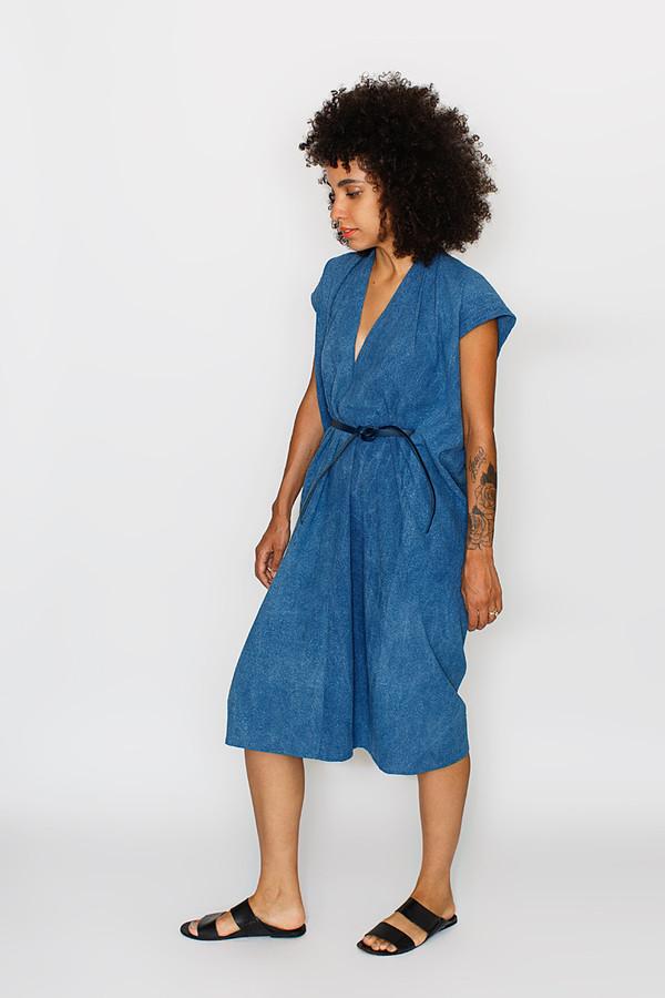 Miranda Bennett Indigo Tempest Dress   Silk Noil
