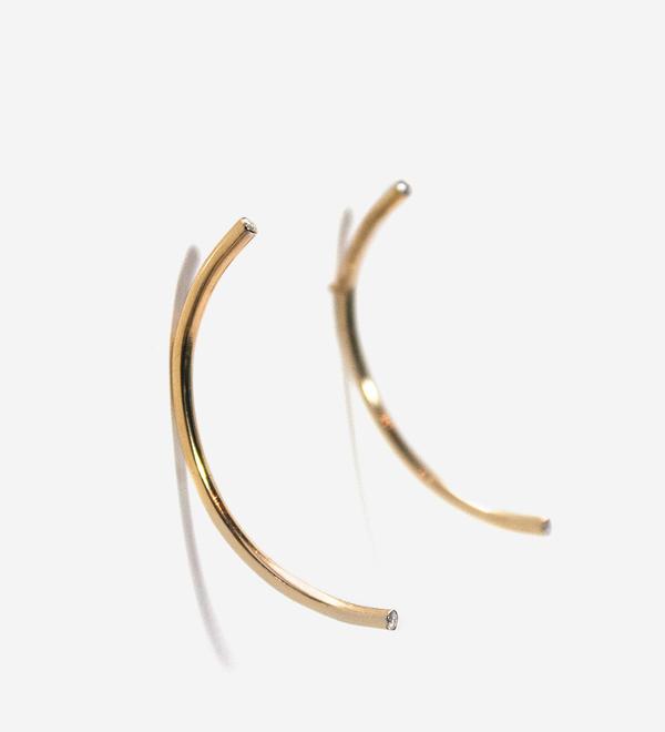 Luz Ortiz Semicircle Earrings