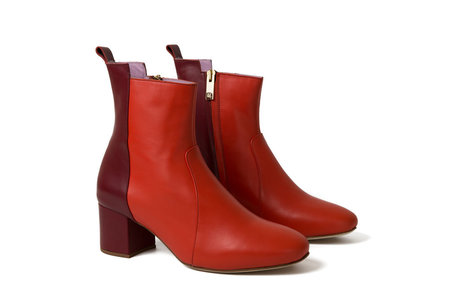 INLU Middle-heel boots - Bordeaux/Orange red