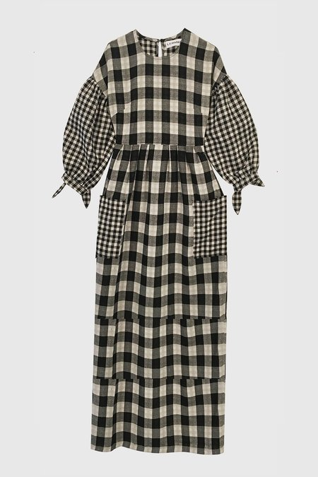 L.F.Markey Joe Dress - Black Check