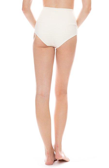Solid and Striped Brigitte Bikini Bottom - Cream
