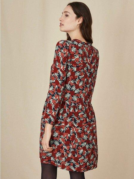 Des Petits Hauts Edeline Print Dress - Roseberry
