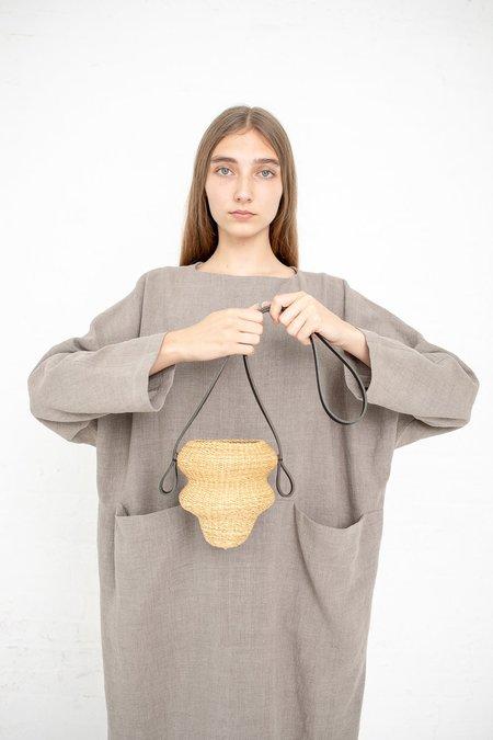 Inès Bressand Akamae Basket No. 5 Mini Weave Elephant Grass Shoulder Bag