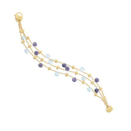 Marco Bicego Paradise Iolite and Blue Topaz Three Strand Bracelet