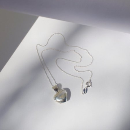 Eleventh House Jewellery Heart Locket Necklace - Sterling Silver