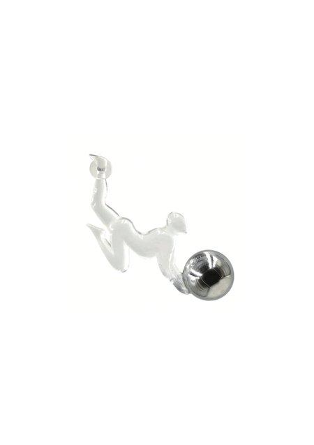 TY'S GROCERY Monkey Fishing Moon Earrings - 18k white gold