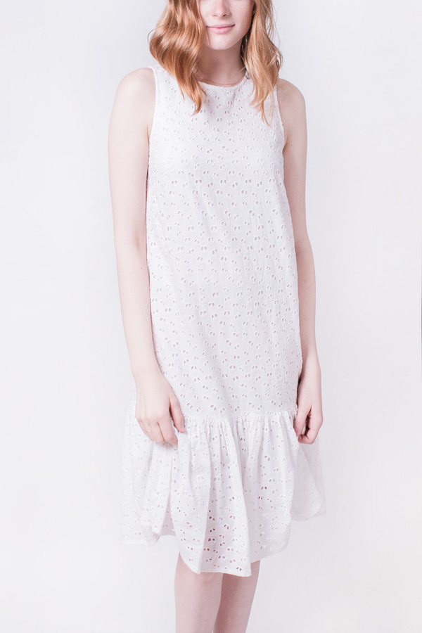 YMC Broderie Anglais Peace Dress