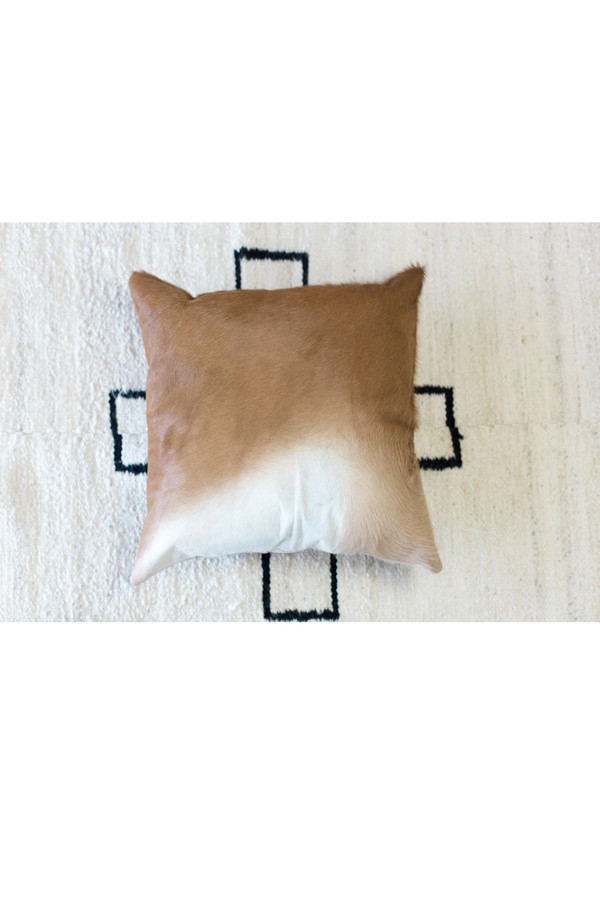 St. Agni Cow Hide Cushion Tan