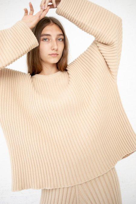 Baserange Kai Rib  Sweater - Corda Off White