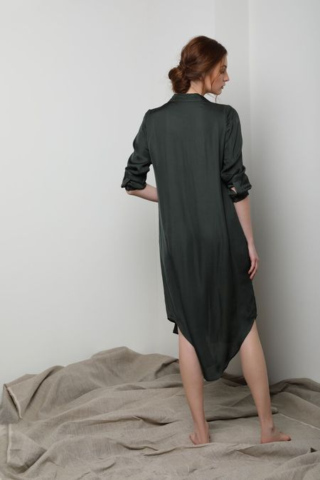 Neu Nomads Shirt Dress - Olive Green