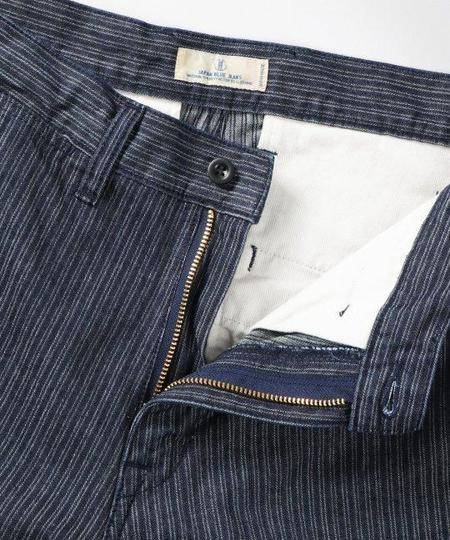 Japan Blue Dobby Stripe Denim Shorts