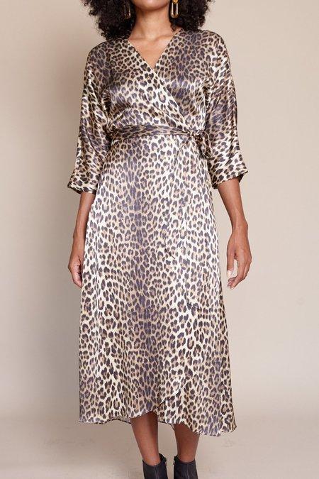 No.6 Georgia Wrap Dress - Leopard