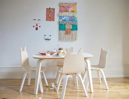 Kids Oeuf Birch Bear + Rabbit Play Chair Set