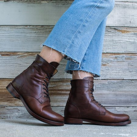 Sutro Footwear Mendelle Lace Up Boot - Mahogany
