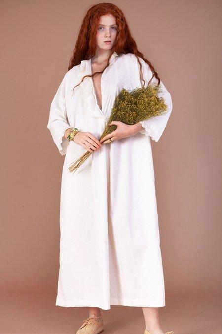 Vintage Meadows Antique Dress - White
