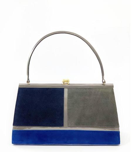 Daniele Ancarani Gray/Blue Handbag - Marino