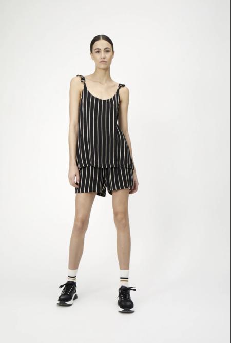 homme femme anna shorts - black/white stripe