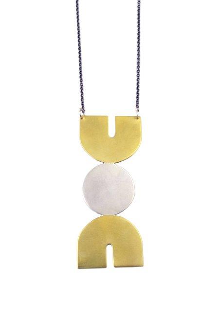Natalie Joy Tethys Necklace - Brass/Silver