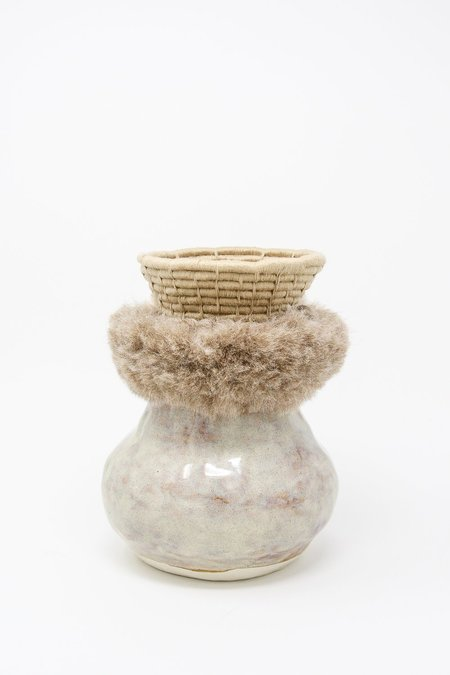 Karen Gayle Tinney One of a Kind Vessel #639 - Gray/Taupe