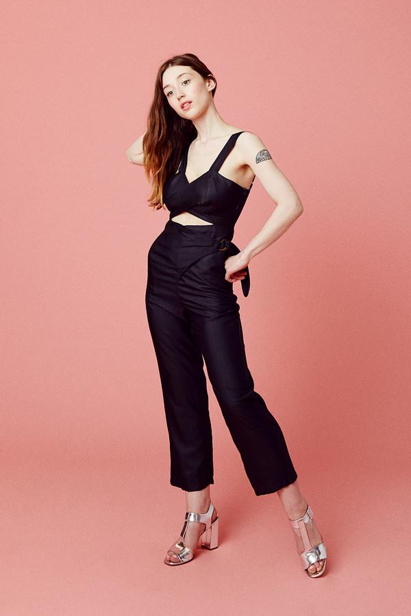Samantha Pleet Curtain Jumpsuit
