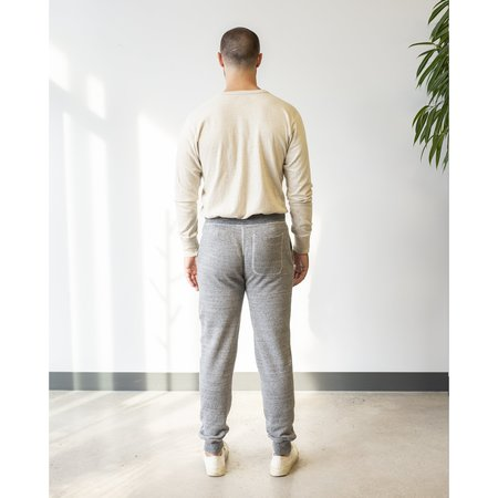 National Athletic Goods Slim Mock Twist Fleece Gym Pant - Dark Grey