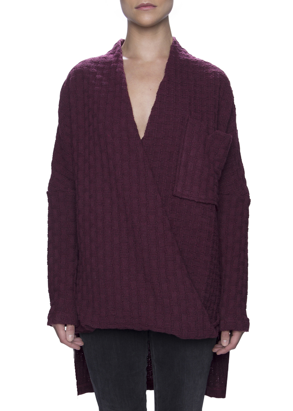 Vincetta Wrap Front Sweater