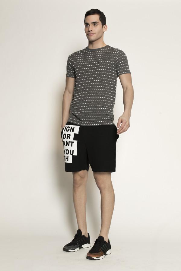 Men's Soulland Ferrell T-Shirt in Grey/White Dots