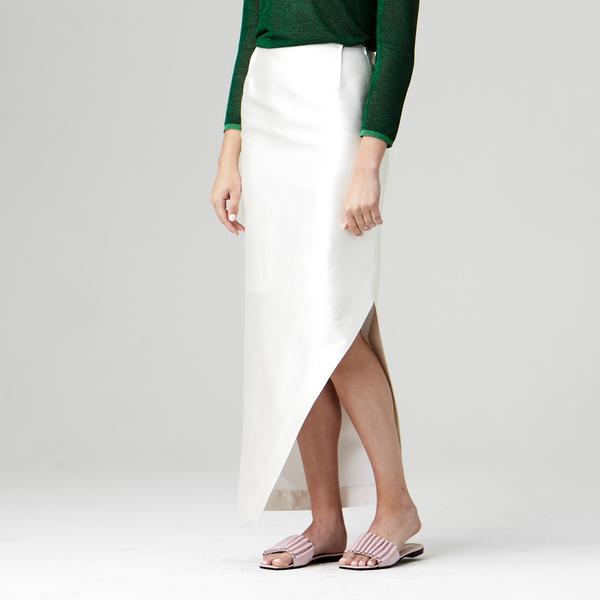 Nikki Chasin  Adria Slit Skirt - Ivory