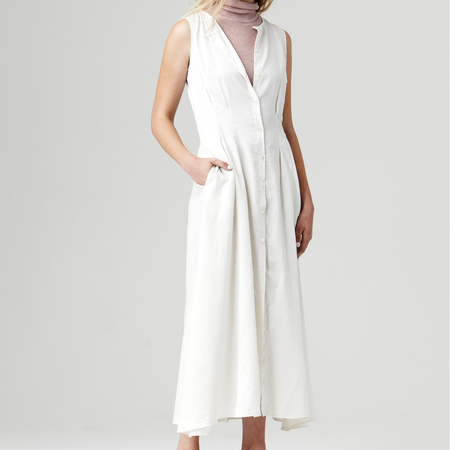 Nikki Chasin Inga Buttonfront Dress - Ivory