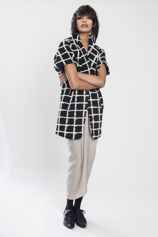 KURT LYLE Jasper Dolman fold jacket in Grid