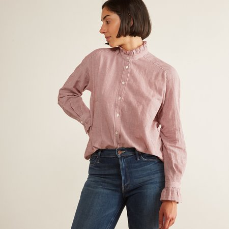 Hartford Comedy Shirt - Wine/Raw Stripes