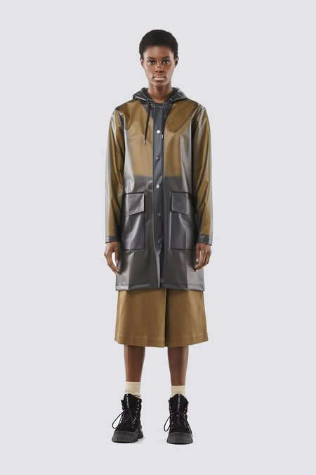 Rains Foggy Hooded Coat - Black