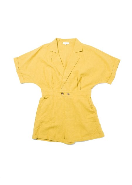 LITTLE LIES LANA ROMPER - MUSTARD