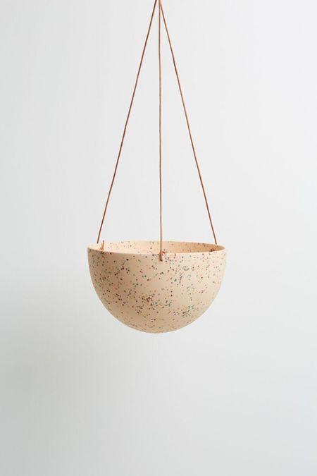 Capra Designs Terrazzo Dome Hanging Planter - Salt Terrazzo