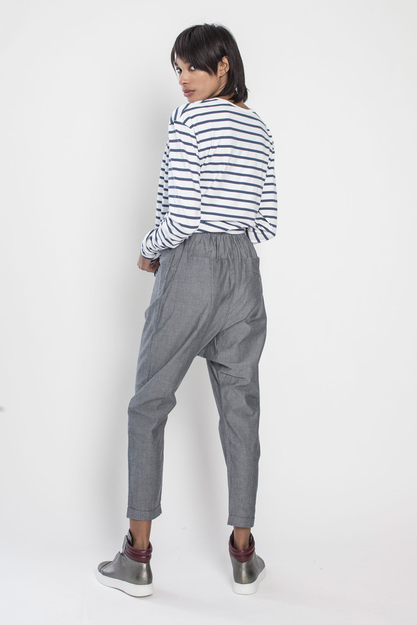 Kowtow Trestle Pant in Navy Chambray