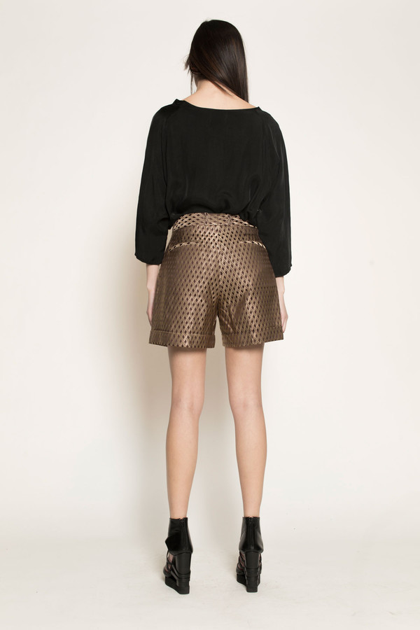 Dzojchen Wide Leg Shorts by Gold Diamond Brocade