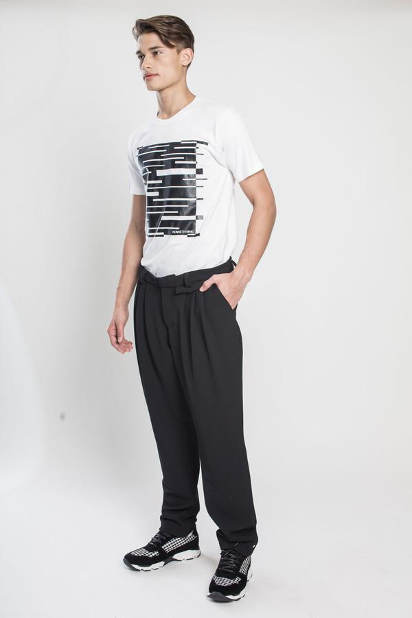 Men's TOURNE DE TRANSMISSION Yutok Crepe Zoot Pant in Black
