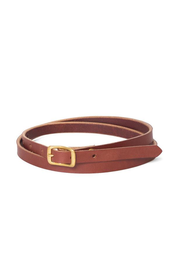 Wood & Faulk Matchstick Belt Cognac