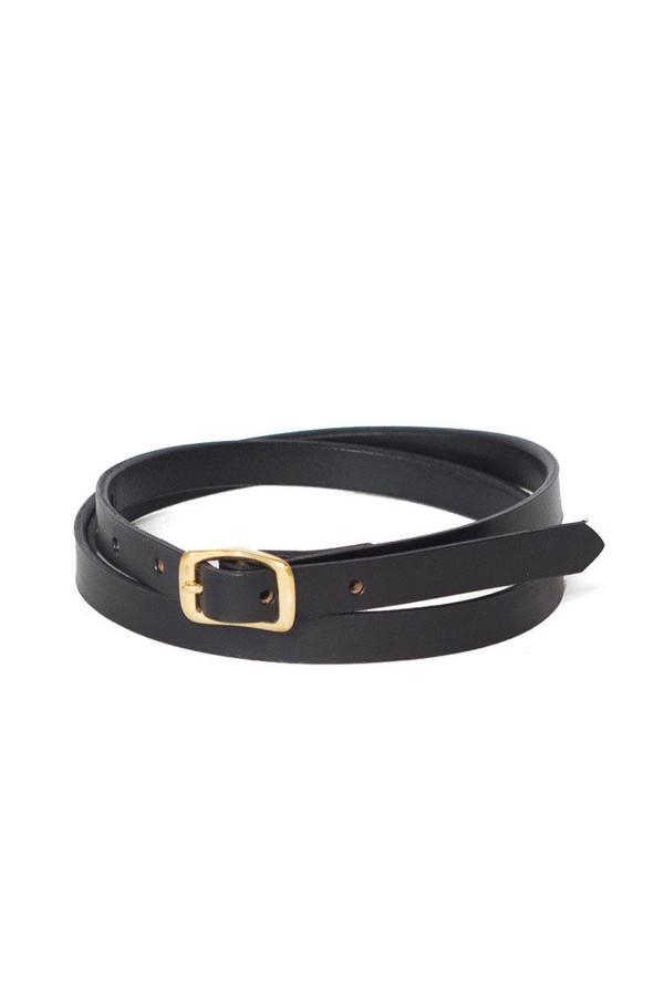 Wood &F aulk Matchstick Belt Black