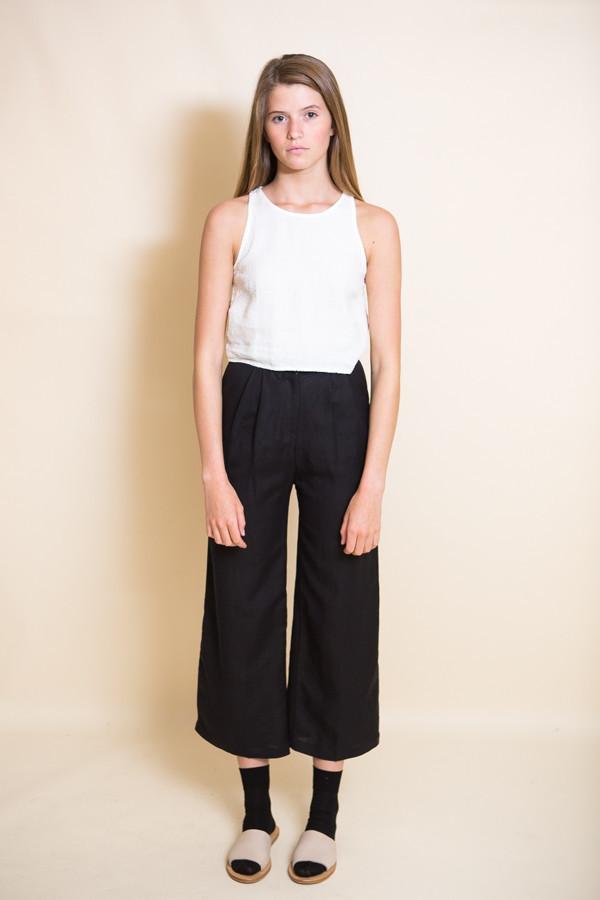 First Rite Wide Trouser / Black