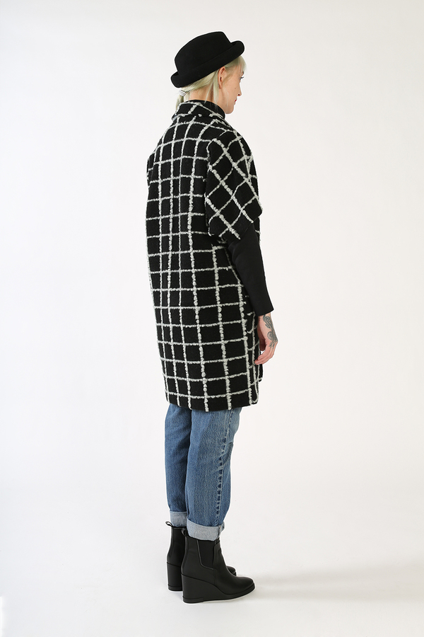 Kurt Lyle JASPER Single Button Dolman Fold Jacket - GRID