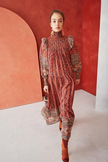 Ulla Johnson Constantine Maxi Dress - Brick