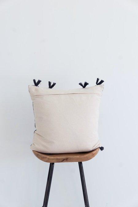 Karu Nagaland Cushion with Tassels - Cream