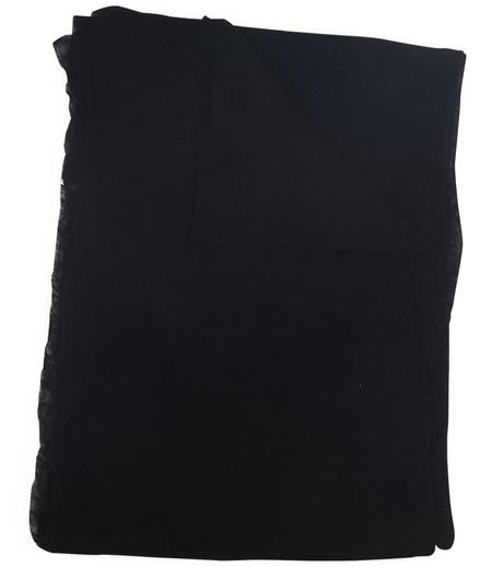 Botto Giuseppe Cashmere Plain Scarf - Black