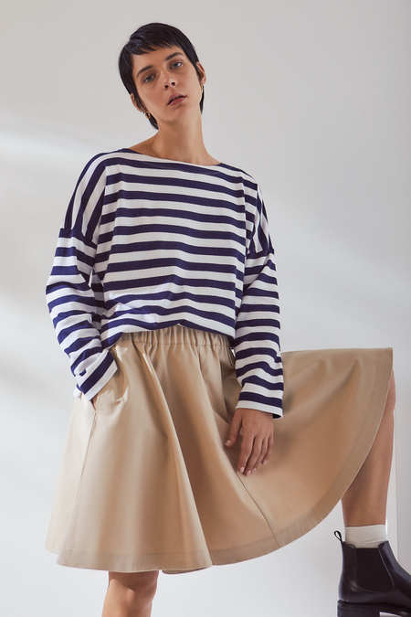 Kowtow Circle Skirt in Sand Canvas