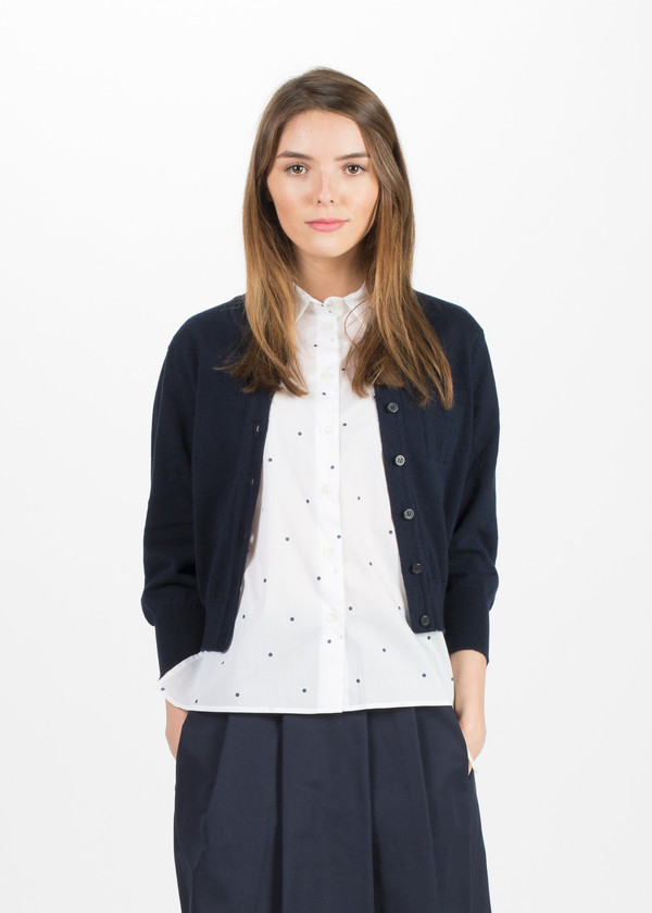 Margaret Howell Neat Crew Neck Cardigan