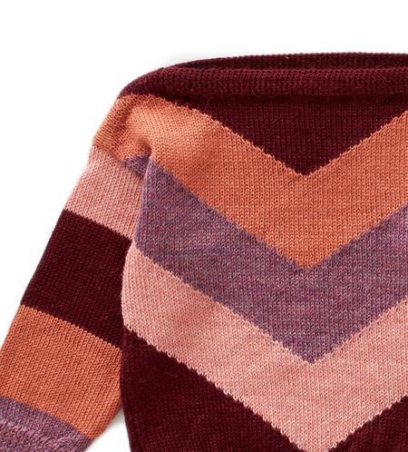 kids Oeuf Chevron Knit Sweater - red