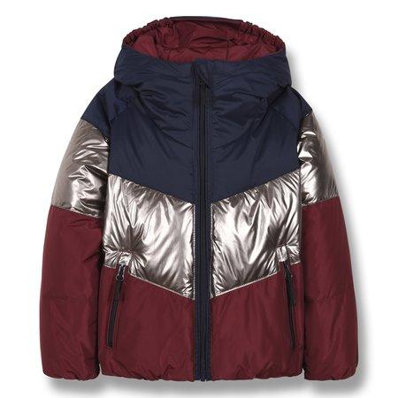 KIDS finger in the nose snowdance reversible down jacket - burgundy