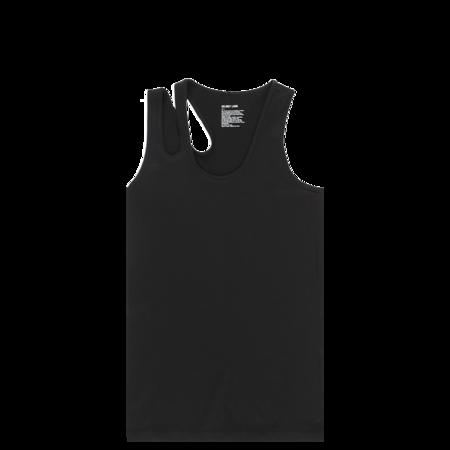 Helmut Lang Seamless Jersey Slashed Tank Top - Black