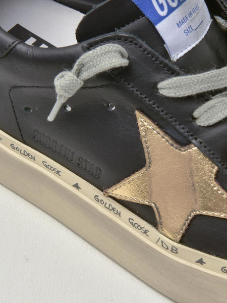 GOLDEN GOOSE DELUXE BRAND SNEAKERS HI STAR - BLACK/GOLD LEATHER STAR